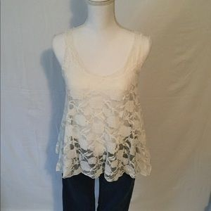 DNA Couture Cream Lace Tank